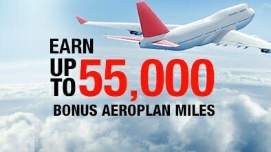 Promotion: Convert Your Hotel Points To Aeroplan and Earn up to 55,000 Miles!