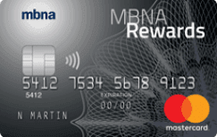 MBNA Rewards Mastercard credit card