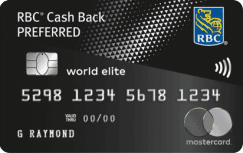 RBC Cash Back Preferred World Elite Mastercard
