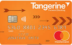 Tangerine MasterCard Money-Back Credit Card
