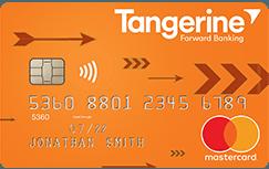 Tangerine cash back credit cardNo annual fee, 2% accelerated cash back on 2 selected categories, 0.50% cash back everywhere else.