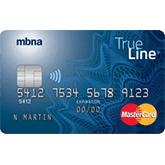 mbna trueline low rate credit card
