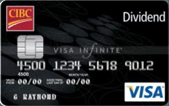 cash back credit cards cibc dividend visa infinite