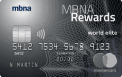 MBNA Rewards World Elite® Mastercard®