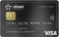 refresh financial visa