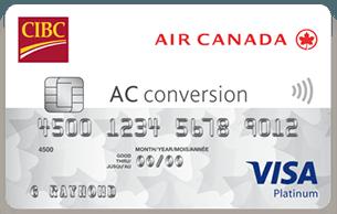CIBC Air Canada® AC conversion™ Visa* Prepaid Card