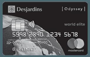 Desjardins Odyssey® World Elite® Mastercard