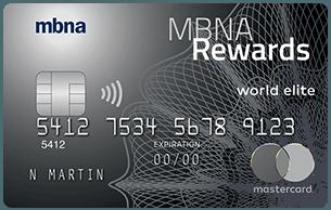 MBNA Rewards World Elite® Mastercard®