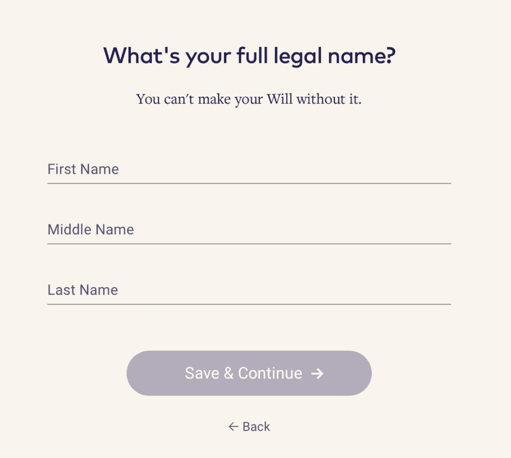 Epilogue Legal Name